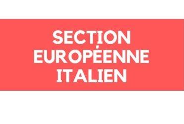 Présentation de la section européenne Italien